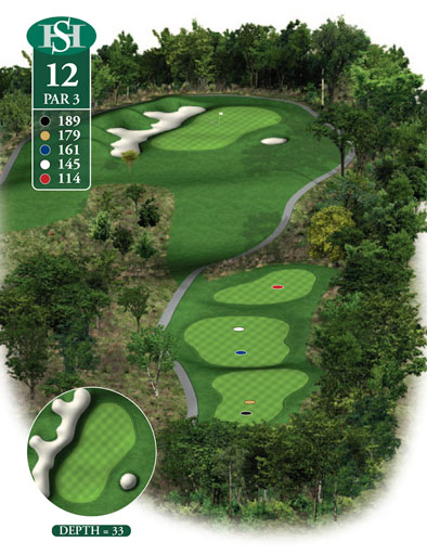 hole 12 yardage book layout