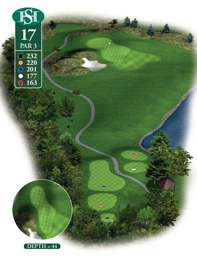 hole 17 yardage book layout