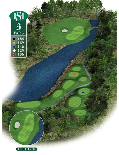 hole 3 yardage book layout