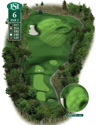 hole 6 yardage book layout