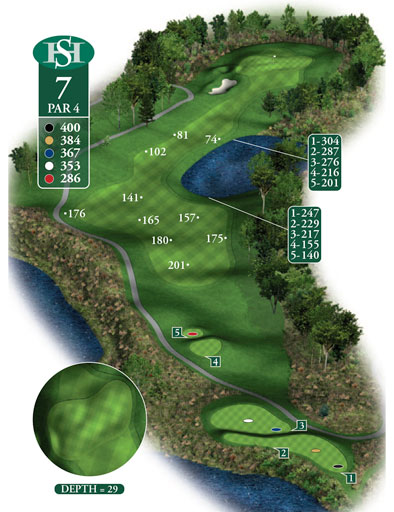 hole 7 yardage book layout