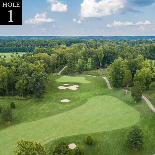 aerial view of hole #1