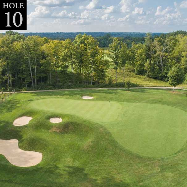 aerial view of hole #10 green