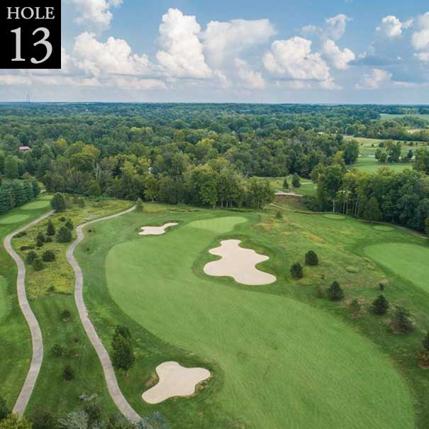 aerial view of hole #13