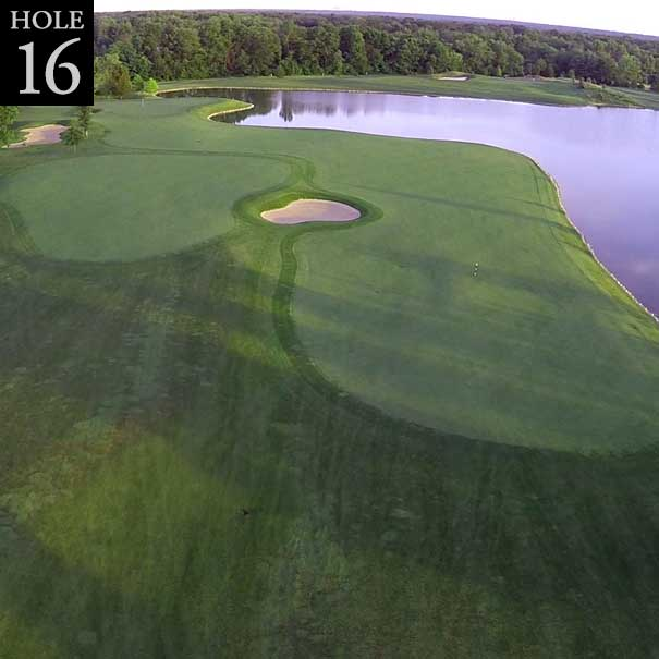aerial view of hole #16