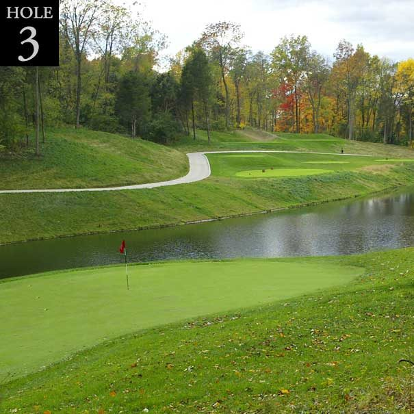 view of hole #3 from behind the green